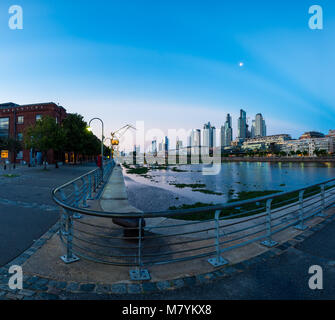 Puerto Madero, also known within the urban planning community as the Puerto Madero Waterfront, is a barrio (district) - Stock Photo