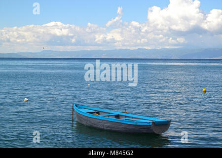 Boat in Ohrid Lake - Stock Photo