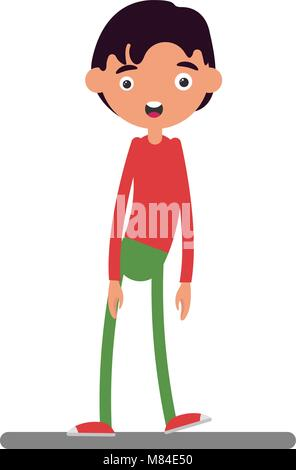 young man standing happy smile character - Stock Photo