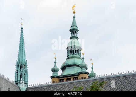 Particulars of  The Cathedral of Saint Vitus. A  Roman Catholic cathedral in Prague, the seat of the Archbishop - Stock Photo