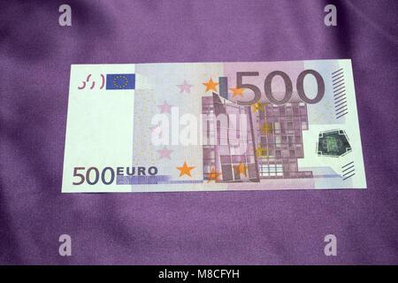 500 Euro notes background texture - Stock Photo