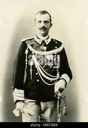 Victor Emmanuel III, King of Italy, 1900 - Stock Photo