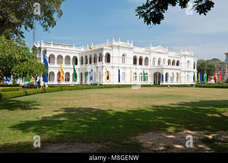 The National Museum of Colombo aka Sri Lanka National Museum exterior on a sunny day with blue sky. - Stock Photo