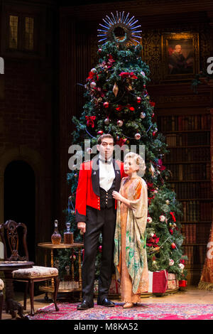 Edward Bennett (Benedick) and Lisa Dillon (Beatrice). The Royal Shakespeare Company's Double-Bill Love's Labour's - Stock Photo