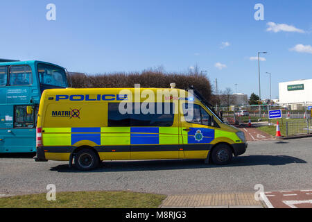 Matrix anti-gun crime police,  response team of highly trained specialist officers, based at the Roads Policing - Stock Photo