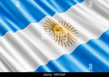 Argentine flag background, 3D rendering - Stock Photo