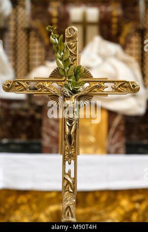 Notre-Dame du Val-de-Grace catholic church, Paris, France. Crucifix. - Stock Photo