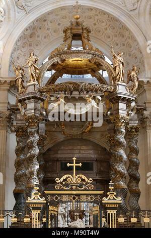 Notre-Dame du Val-de-Grace catholic church, Paris, France. Canopy. - Stock Photo