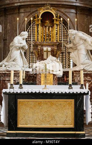 Notre-Dame du Val-de-Grace catholic church, Paris, France. Main altar. - Stock Photo