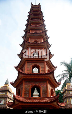 Tran Quoc Pagoda (Chua Tran Quoc), Tower. Hanoi. Vietnam. - Stock Photo