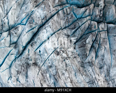 Fláajökull is a glacier of Iceland, located on the east of Iceland, in Vatnajökull National Park near Höfn town an is a drainglacier of the large glac - Stock Photo