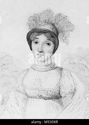 Sophie Blanchard (25 March 1778 – 6 July 1819) first woman to work as a professional balloonist, wife of ballooning pioneer Jean-Pierre Blanchard. - Stock Photo