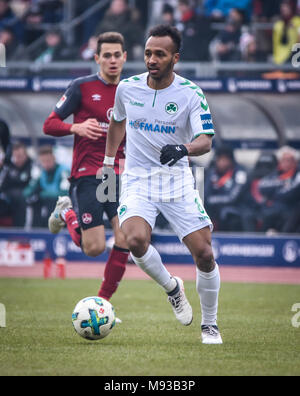 Germany, Nuernberg, Max-Morlock-Stadion, 03 March 2018 - 2.Bundesliga - 1.FC Nürnberg vs. SpVgg Greuther Fürth - 264th Franken Derby! - Stock Photo