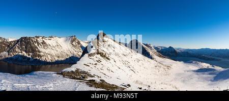 Winter scenery of Senja in Norway - Stock Photo