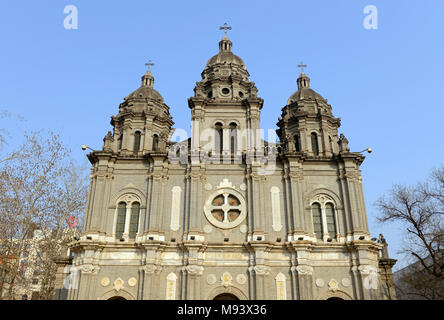 The front of St Joseph's Catholic church in Wangfujing, Beijing, China - Stock Photo