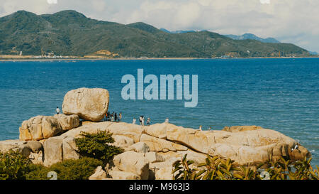 Hon Chong cape. Popular tourist destinations at Nha Trang. Vietnam. - Stock Photo