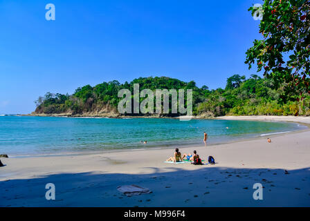 people on beach, Manuel Antonio National Park, Costa Rica, Central America - Stock Photo
