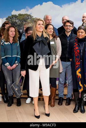 Doorn, The Netherlands. 23rd Mar, 2018. Queen Maxima of The Netherlands visits the meeting of Meer Kansen (more changes) of the Oranje Foundation in Doorn, The Netherlands, 23 March 2018. With the program more changes are offered to youth. Credit: Patrick van Katwijk - NO WIRE SERVICE · Credit: Patrick van Katwijk/Dutch Photo Press/dpa/Alamy Live News - Stock Photo