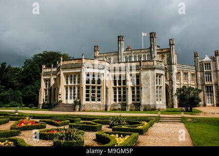 Highcliffe Castle and gardens near Christchurch, Dorset, UK - Stock Photo