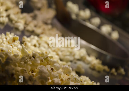 Popcorn in a pot - Stock Photo