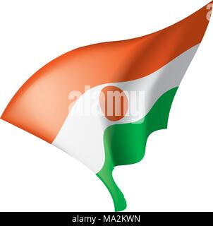 Niger flag, vector illustration - Stock Photo