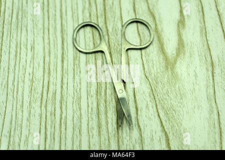 old tailor's scissors isolated on a white background - Stock Photo