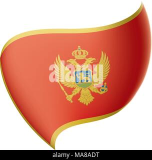 montenegro flag, vector illustration - Stock Photo