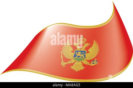 montenegro flag, vector illustration - Stock Photo