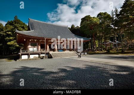 Kondo, central hall of Shimo-Daigo part of Daigoji complex, Daigo-ji temple, Shingon Buddhist temple in Fushimi-ku, Kyoto, Japan 2017 - Stock Photo