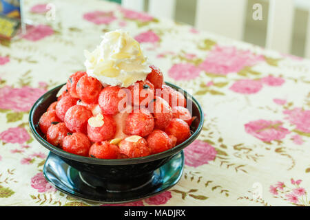Watermelon on Shaved ice - Stock Photo