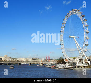 Southbank, Westminster, London, UK 2017. Editorial Use Only - Stock Photo
