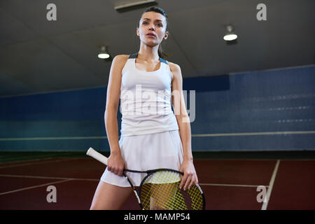 Professional Tennis Player in court - Stock Photo