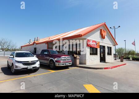 Whataburger burger store, Austin, Texas USA - Stock Photo