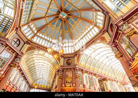 Leadenhall Market, City of London, UK - Stock Photo