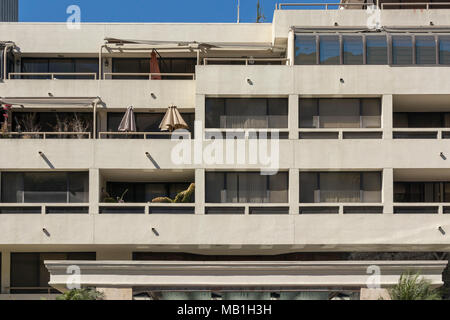 The Promenade full service condominium complex, built in 1980,  Downtown Bunker Hill District, Los Angeles, California , USA - Stock Photo