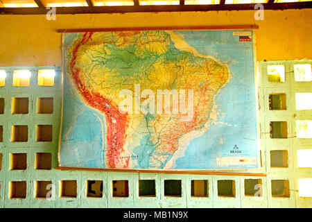 Public school, Distrito Rua Nova, Belém, Paraiba, Brazil - Stock Photo