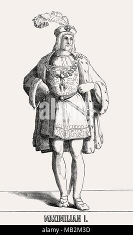 Maximilian I Holy Roman Emperor from 1493 to 1519 - Stock Photo