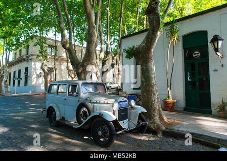 Oldtimer, Ford van, downtown, Colonia del Sacramento, Uruguay - Stock Photo