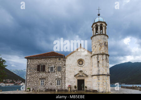 Church Of Our Lady Of The Rocks - Stock Photo