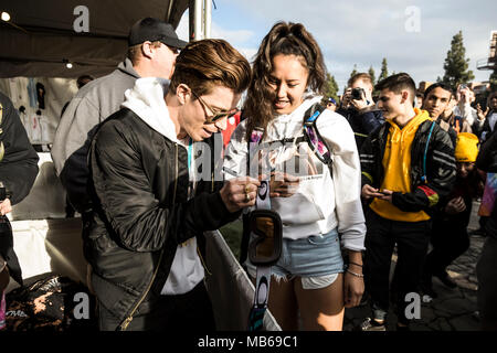 Shaun White meets fans at his Air + Style Festival in Los Angeles, CA - Stock Photo