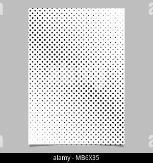 Halftone circle background pattern flyer template from diagonal dots - Stock Photo