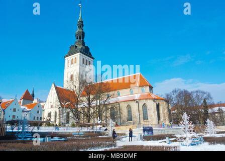 Niguliste kirik, church of Saint Nicholas, now museum, Vanalinn, old town, Tallinn, Estonia - Stock Photo