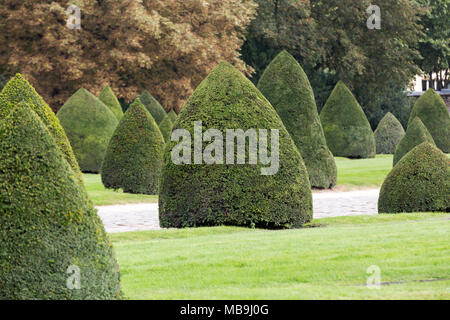 Park near main entrance Les Invalides. Paris, France - Stock Photo