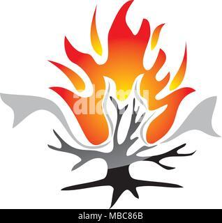 Burning Bush Technology - Stock Photo