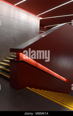 Staircase at the Paul Andreu-designed National Centre of the Performing Arts in Beijing, China - Stock Photo