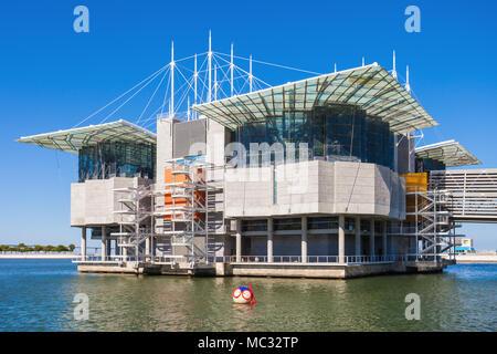 LISBON, PORTUGAL - JUNE 26: The Lisbon Oceanarium (Oceanario de Lisboa) on June 26, 2014 in Lisbon, Portugal - Stock Photo