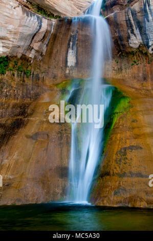 Lower Calf Creek Falls; Grand Staircase-Escalante National Monument Utah - Stock Photo