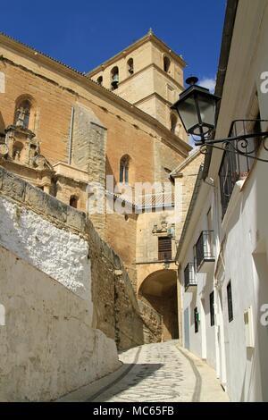 Church of La Incarnation, Iglesia Mayor de Santa Maria de la Encarnacion, Alhama de Granada, Andalusia, Southern Spain - Stock Photo