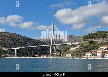 Franjo Tuđman Bridge, Dubrovnik, Croatia - Stock Photo