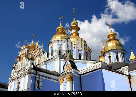 The St. Michael's Golden-Domed Cathedral on the grounds of the St. Michael's Golden-Domed Monastery in Kyiv, Ukraine - Stock Photo